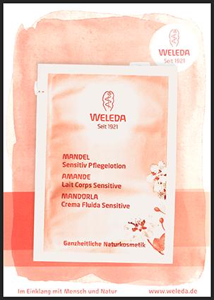 Produktprobe Weleda Mandel