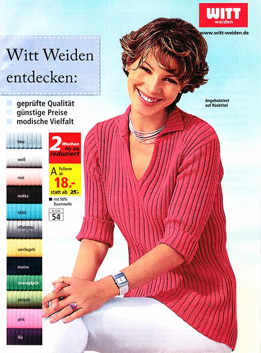 Beilage Broschüre Witt Weiden