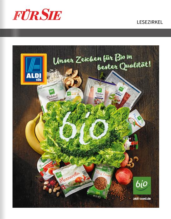 ALDI SÜD – Titelanzeige vor der Zeitschrift Für Sie