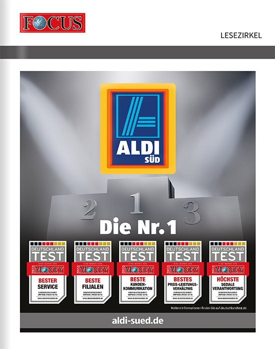Titelanzeige ALDI SÜD, Motiv