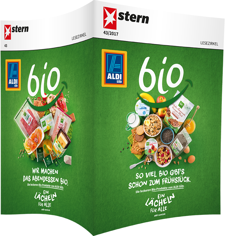 Top-Cover ALDI SÜD, bio