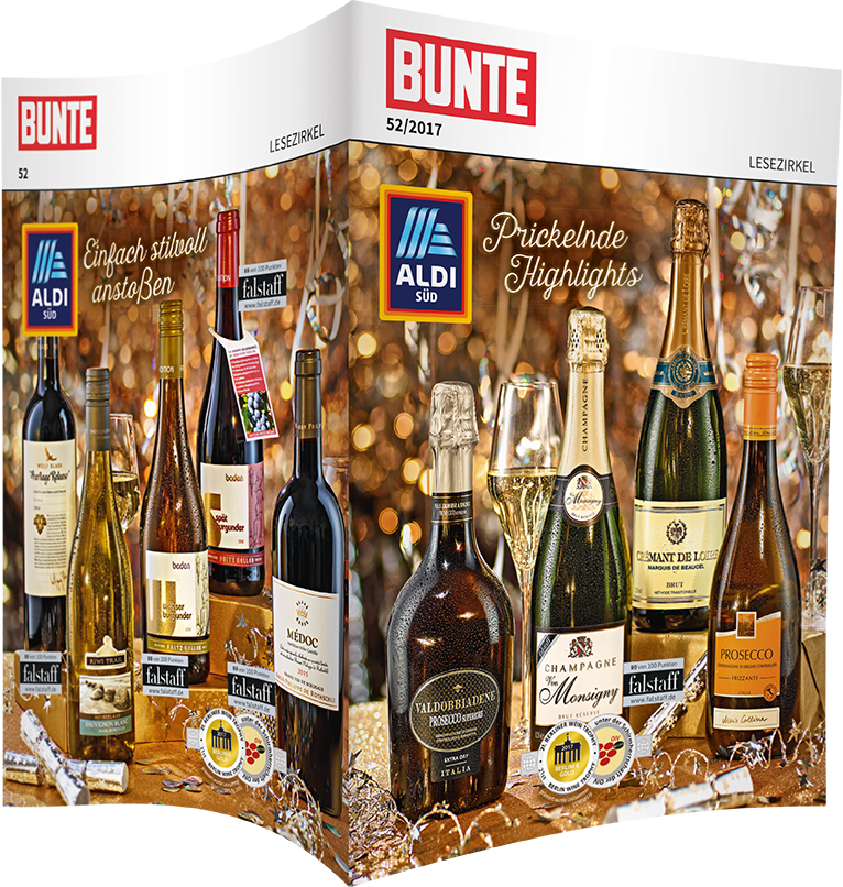Top-Cover ALDI SÜD, Prickelnde Highlights zu Silvester