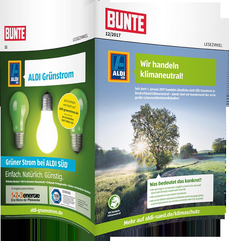 Top-Cover ALDI SÜD, Motiv Klimaschutz