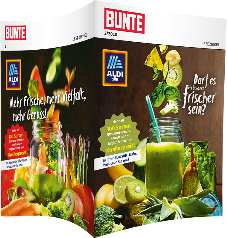 Top-Cover ALDI SÜD, Motiv Smoothie