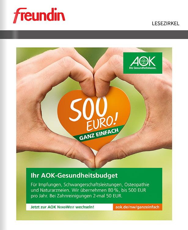 Titelanzeige - AOK Nordwest Gesundheitsbudget