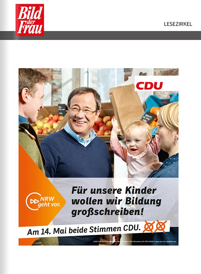 Titelanzeige Landtagswahl CDU NRW