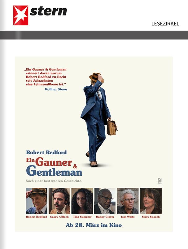 """Titelanzeige """"Ein Gauner & Gentleman"""""""