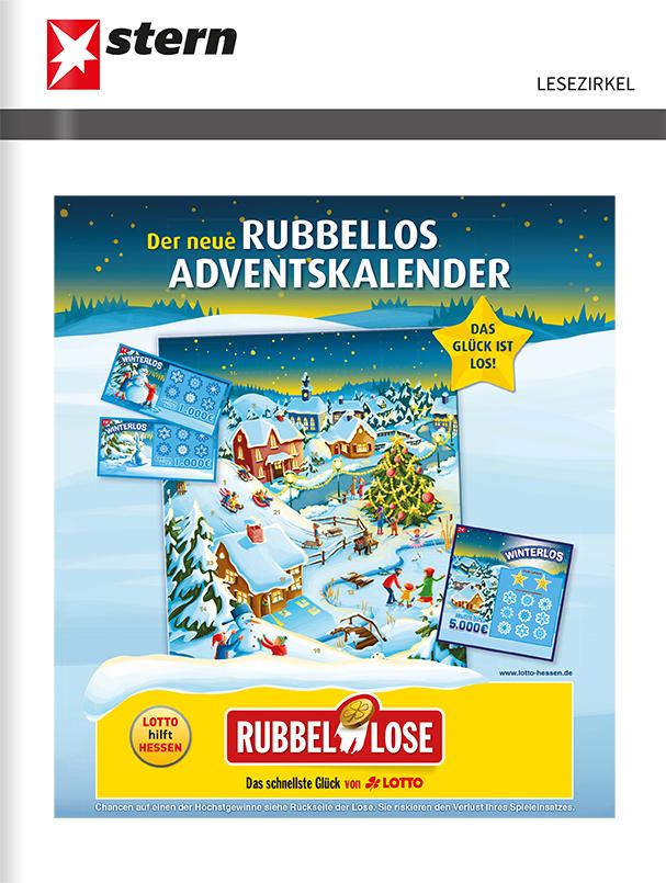 Titelanzeige Lotto Hessen, Rubbellos Adventskalender