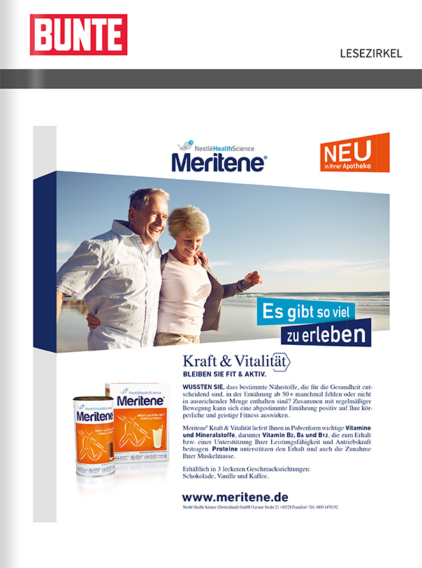 Titelanzeige Nestle Health Care Meritene