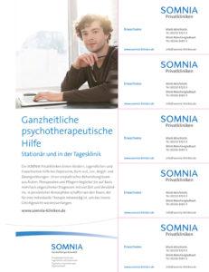 Der Beihefter der SOMNIA Privatklinik mit Coupons zum Abtrennen.