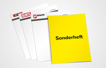Ihr Katalog oder Ihre Broschüre als eigenständiges Objekt zwischen den Zeitschriften des Lesezirkels.