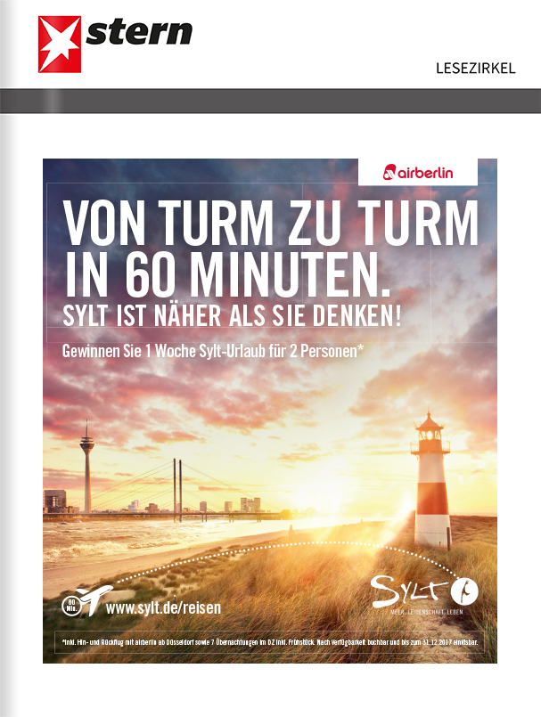 Titelanzeige Sylt Marketing, Motiv