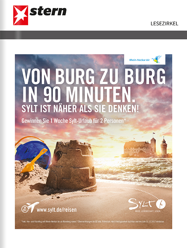 Titelanzeige Sylt Marketing