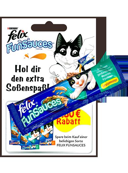 Warenproben felix FunSauces verteilt an Lesezirkelabonnenten