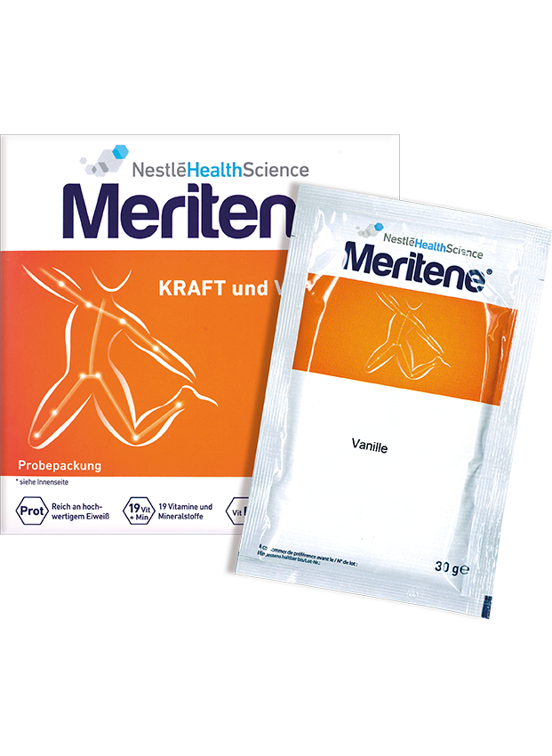 Meriten Warenproben von Nestele Health Science