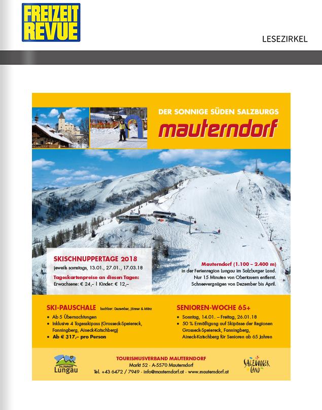 Titelanzeige Tourismusverband Mauterndorf