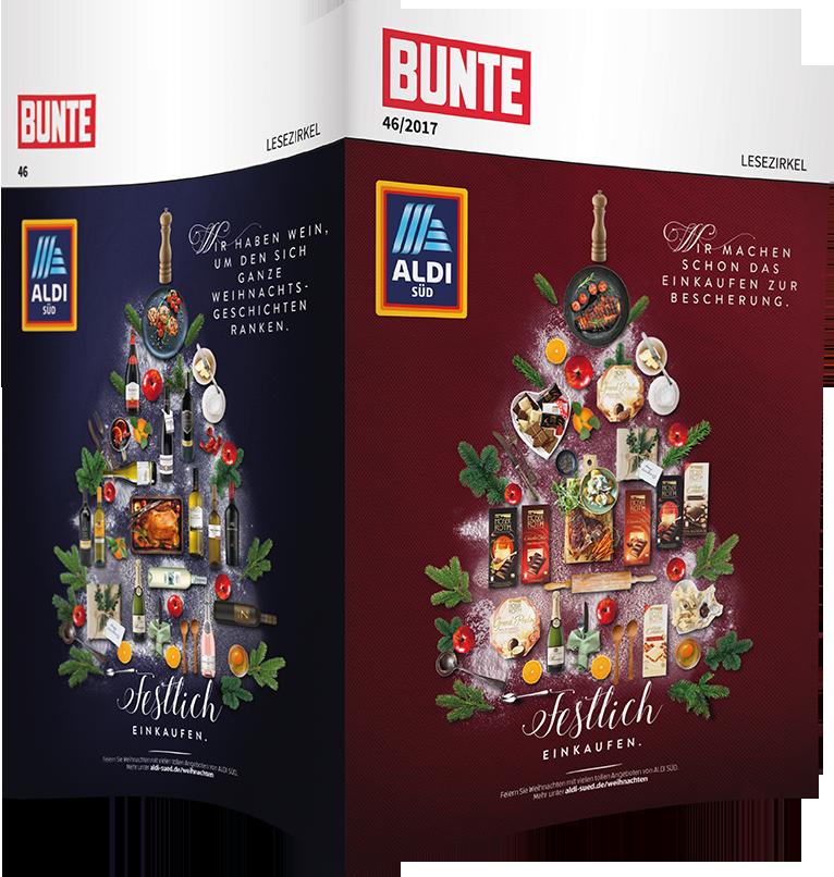 Top-Cover ALDI SÜD, Festlich einkaufen