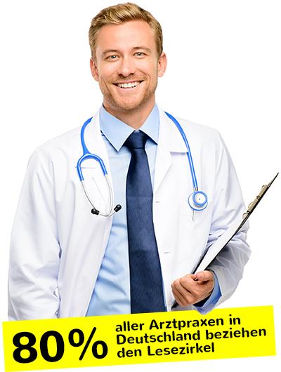 80% aller Arztpraxen beziehen den Lesezirkel