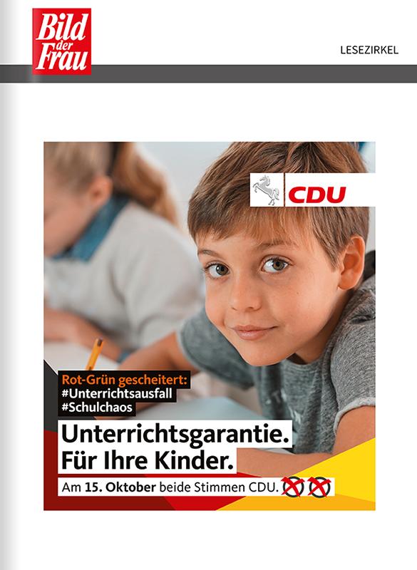 Titelanzeige CDU NIedersachsen