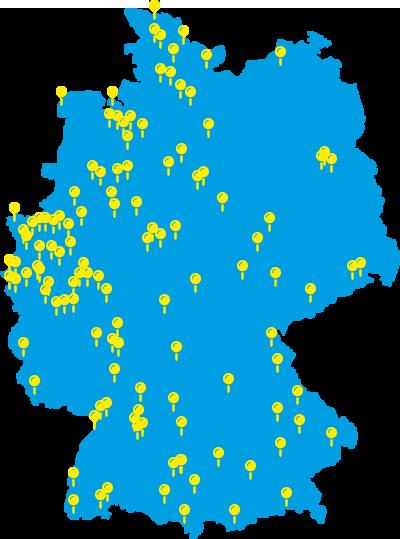 Geomarketing mit dem Lesezirkel über die Standorte der Lesezirkelunternehmen in Deutschland.