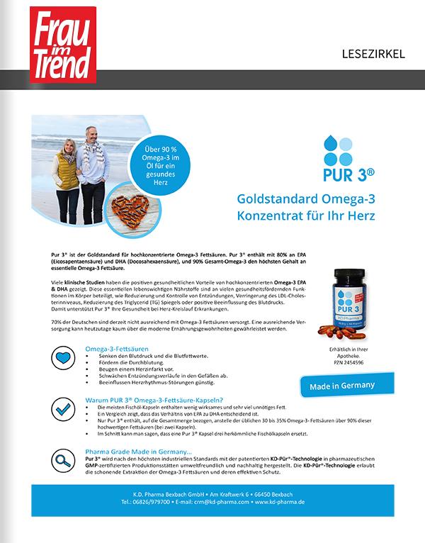 Titelanzeige PUR 3 von K.D. Pharma