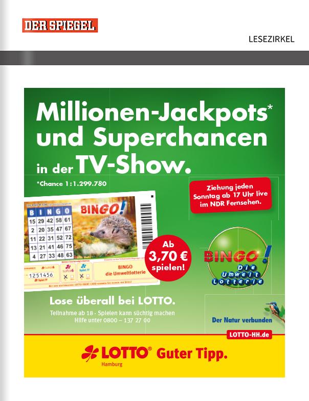 Titelanzeige Lotto Hamburg