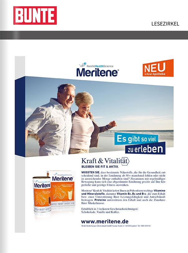 Titelanzeige Nestle Health Care Meritene