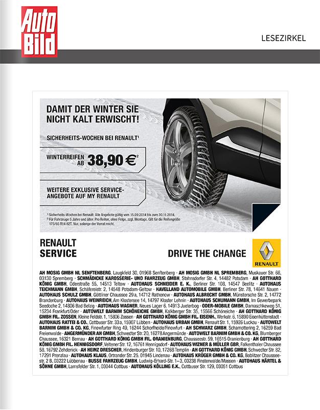 Titelanzeige Renault Service