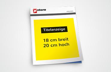 Die Lesezirkel Titelanzeige - Ihre Werbeanzeige plakativ vor der Titelseite einer Publikumszeitschrift.
