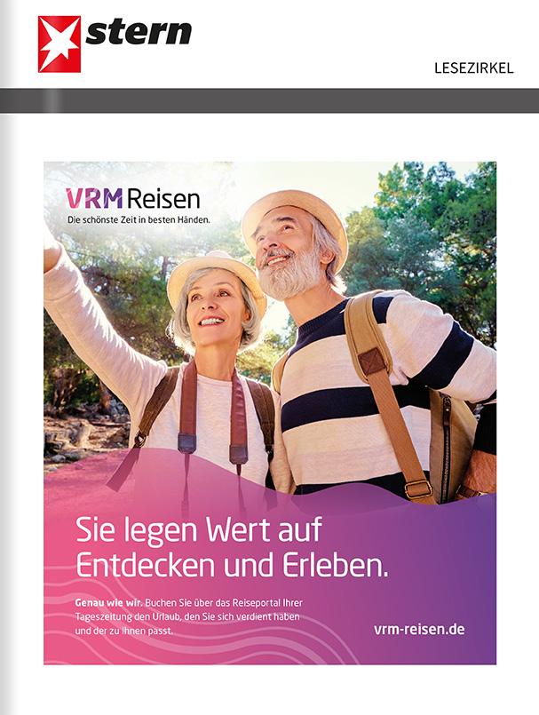Titelanzeige VRM Reisen